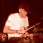 drummer Joe Tomino of Dub Trio