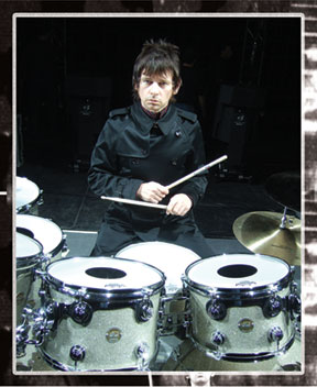 drummer  Zak Starkey behind his kit