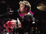Drummer John Mahon with Elton John