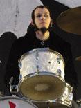 drummer Sam McCandless of Cold