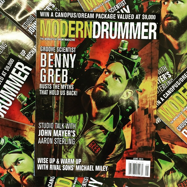 June 2015 issue of Modern Drummer featuring Benny Greb