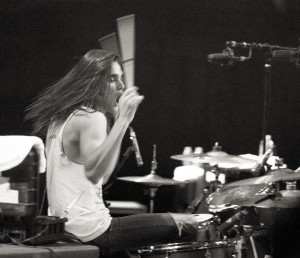 Drummer Pat Kirch of the Maine