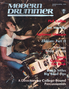 Phil Collins from the March/April 1979 issue of Modern Drummer magazine