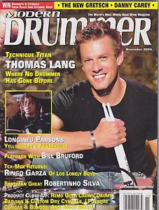 Thomas Lang on the November 20014 cover of Modern Drummer