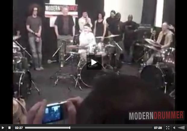 Rock 'N' Roll Fantasy Camp 2009 Jam : Modern Drummer