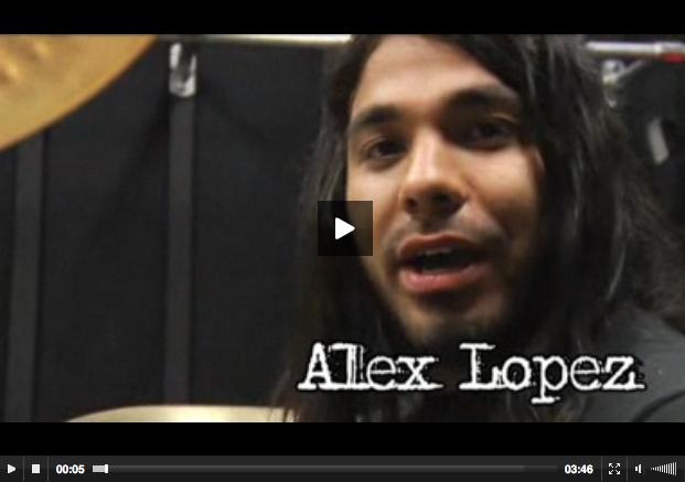 Alex Lopez of Suicide Silence Video