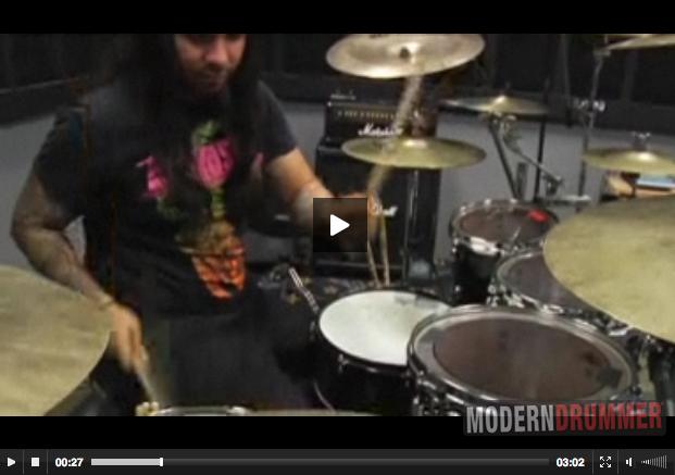 Alex Lopez of Suicide Silence Video Modern Drummer