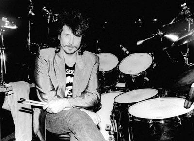 Richie Hayward of Little Feat in Modern Drummer Magazine