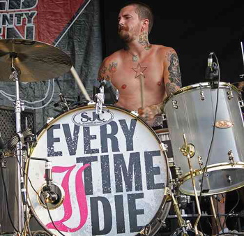 "Ryan ""Legs"" Leger of Every Time I Die Modern Drummer Drummer Blogs"