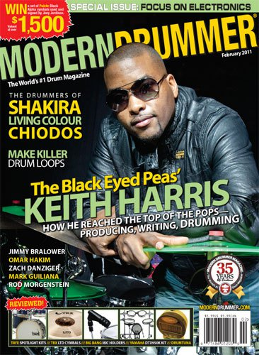 Keith Harris on the February 2011 Issue of Modern Drummer Magazine