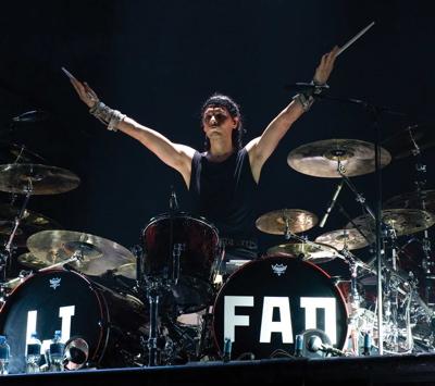 Christoph Schneider of Rammstein in Modern Drummer Magazine