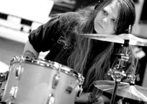 Drummer Leesa Harrington-Squyres of Lez Zeppelin