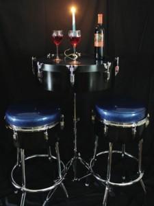 drum furniture 50 gallon drummed up creations musicinspired furniture modern drummer magazine