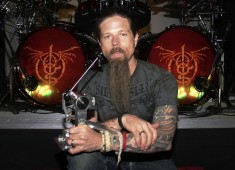 Chris Adler, drummer for metal megastars Lamb of God, has a voice and approach all his own, yet he didn't even begin to play drums seriously until he was already in his twenties. He did, however, grow up studying piano, saxophone, and acoustic guitar before finally settling on playing bass for several high school bands and other projects...
