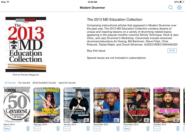 The 2013 Modern Drummer Education Collection E-book