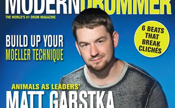 March 2015 Issue of Modern Drummer featuring Animals as Leaders' Matt Garstka