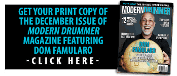 Order A Print Copy of the Nov Issue of Modern Drummer magazine featuring Brian Frasier-Moore