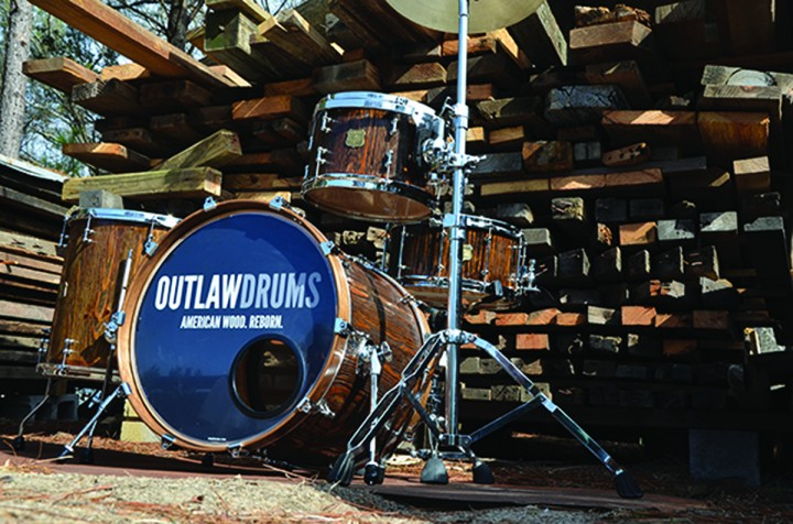 Outlaw Church Pew Drumset