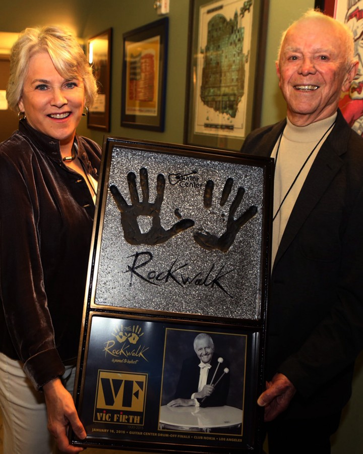 Vic Firth Inducted Into Guitar Center RockWalk