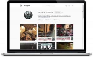 Modern Drummer and Instagram