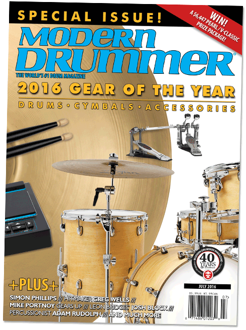 2016 Gear of the Year Issue Modern Drummer magazine