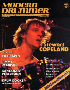 Stewart Copeland Drummer | Modern Drummer Archive