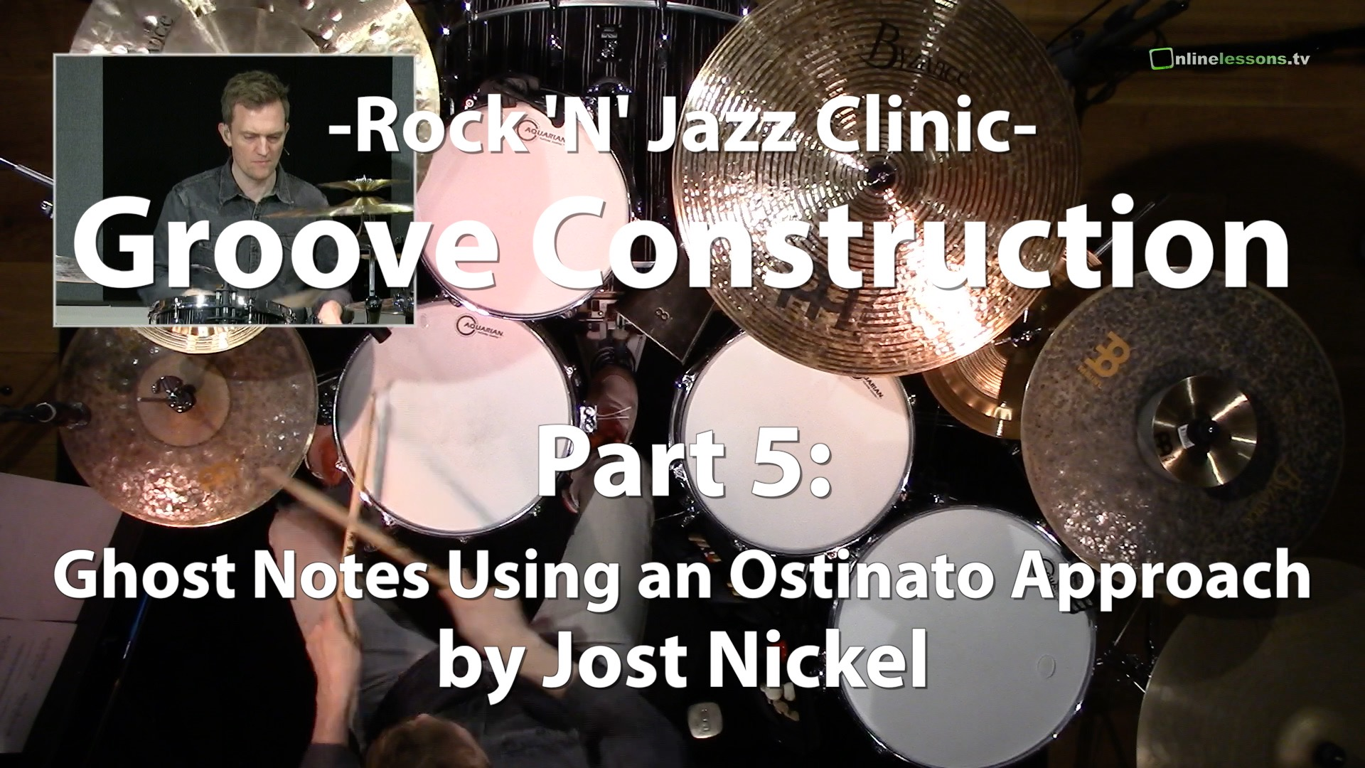 Video Lesson! Groove Contruction, Part 5: Ghost Notes Using an Ostinato Approach