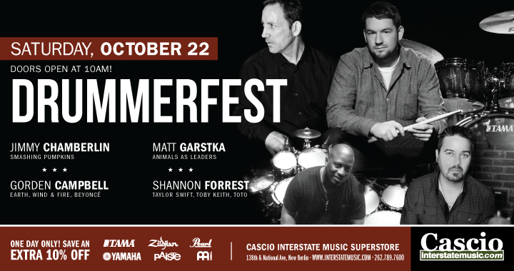 Cascio Interstate Music to Host DrummerFest 2016