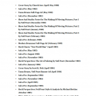 Neail Peart Artist Pack Table of Contents
