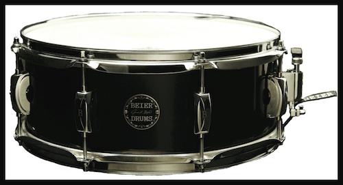 Beier steel snare drum black
