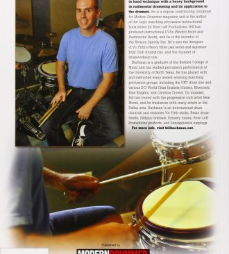 Modern Drummer Presents Stick Technique - The Essential Guide for the Modern Drummer (Back Cover)