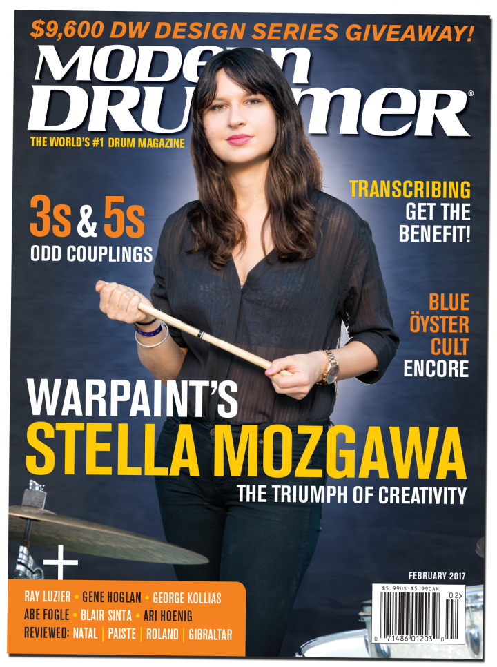 February 2017 Issue Of Modern Drummer Magazine Featuring Warpaint S Stella Mozgawa