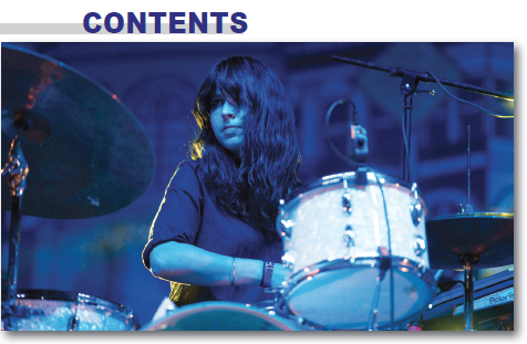 February 2017 Issue of Modern Drummer magazine featuring Warpaint's Stella Mozgawa