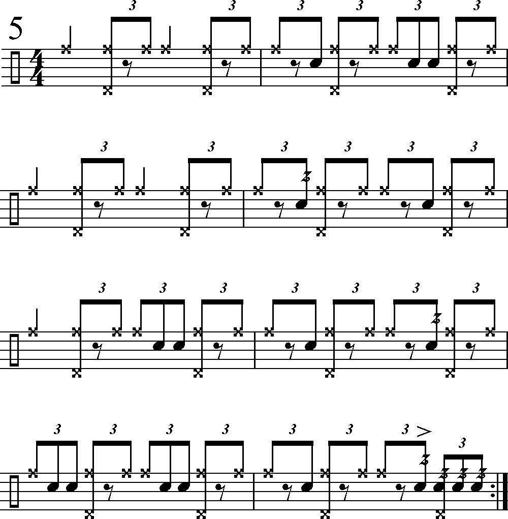 Lets Use This Fill To Set Up Three Common Big Band Figures Each Of The Following Examples Demonstrates How Figure Would Appear As Written In A Chart