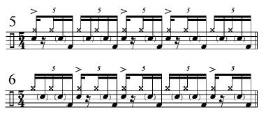Phrasing Quintuplets 4