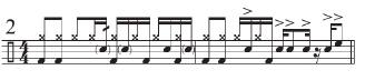 """Beyone """"Funky Drummer"""" 3"""