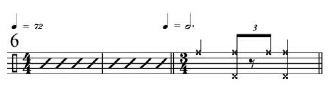 Rhythmic Transition Examples 6
