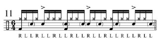 Broken doubles and Paradiddles 12