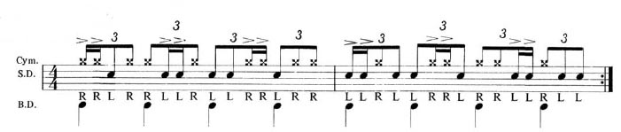 Expanding the Paradiddle 8