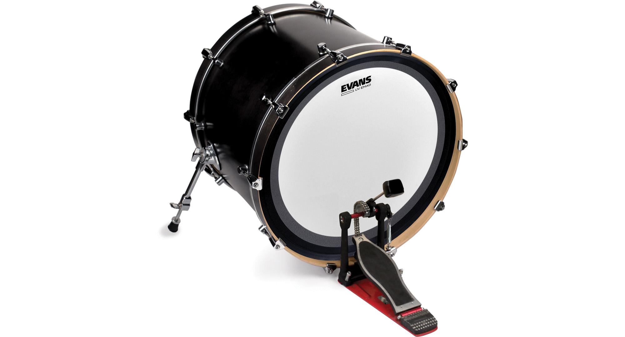 evans uv1 bass drum heads modern drummer magazine. Black Bedroom Furniture Sets. Home Design Ideas