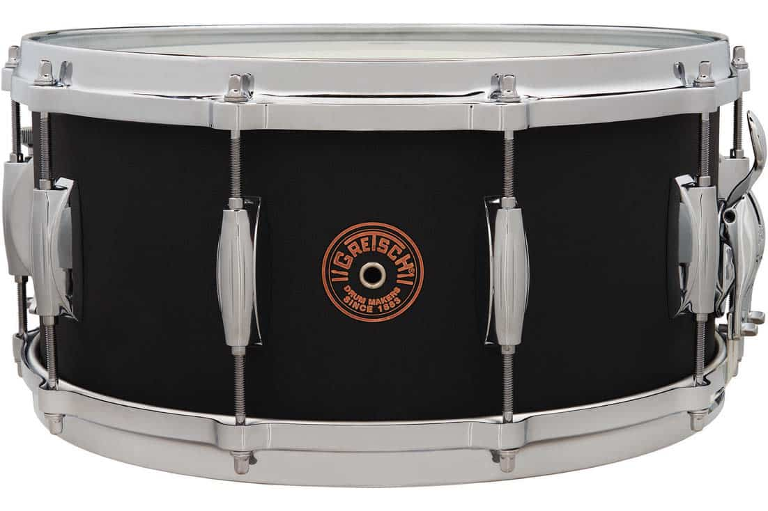 July 2020 Gretsch USA Black Copper Snare Drums