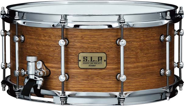 Tama S.L.P. Sonic Stainless Steel and Bold Spotted Gum Snares