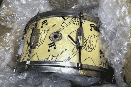 Here's a 1941 Ludwig Top Hat and Cane 7x14 snare, one of the rarest and most valuable drums ever made.