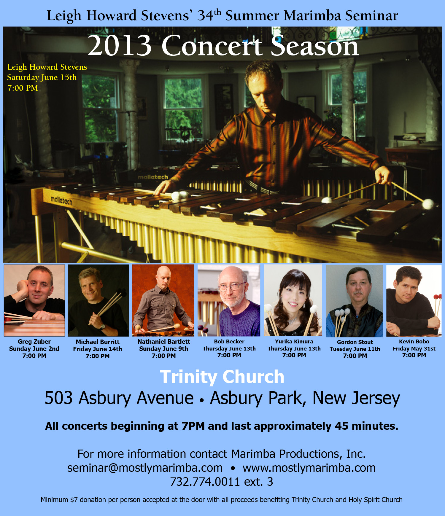 Leigh Howard Stevens' 34th Summer Marimba Seminar Concerts