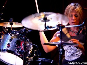 Drummer Dena Tauriello of Antigone Rising