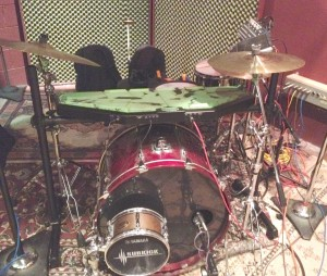 drummer Mark Pry of Mariner Project's drumkit