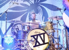 """Hi, <em>Modern Drummer</em> people! My name is Chris Guglielmo, and I play drums in a band called Bayside. I remember getting my first set of drums in middle school. It was a CB-700 Percussion kit, and I used the bottom hi-hat cymbal as a ride and had to use a double pedal to play """"Brainstew"""" by Green Day...."""