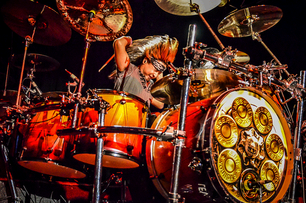 Drummer Kenn Youngar of Messer