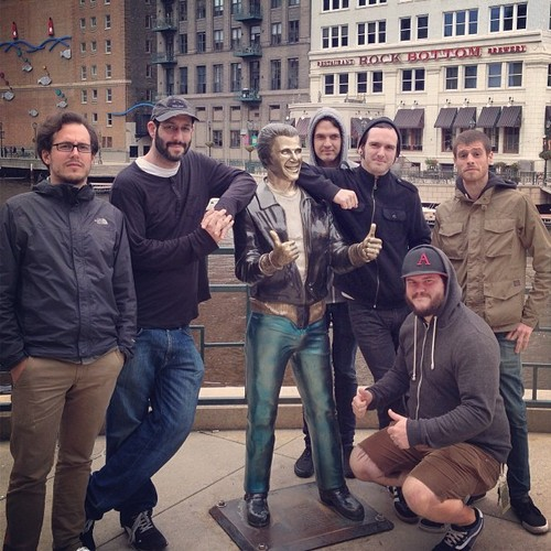 Carlin Brown of Restorations with the Bronze Fonz in Milwaukee