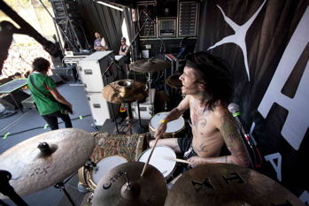 Drumer Mike Fuentes of Pierce the Veil